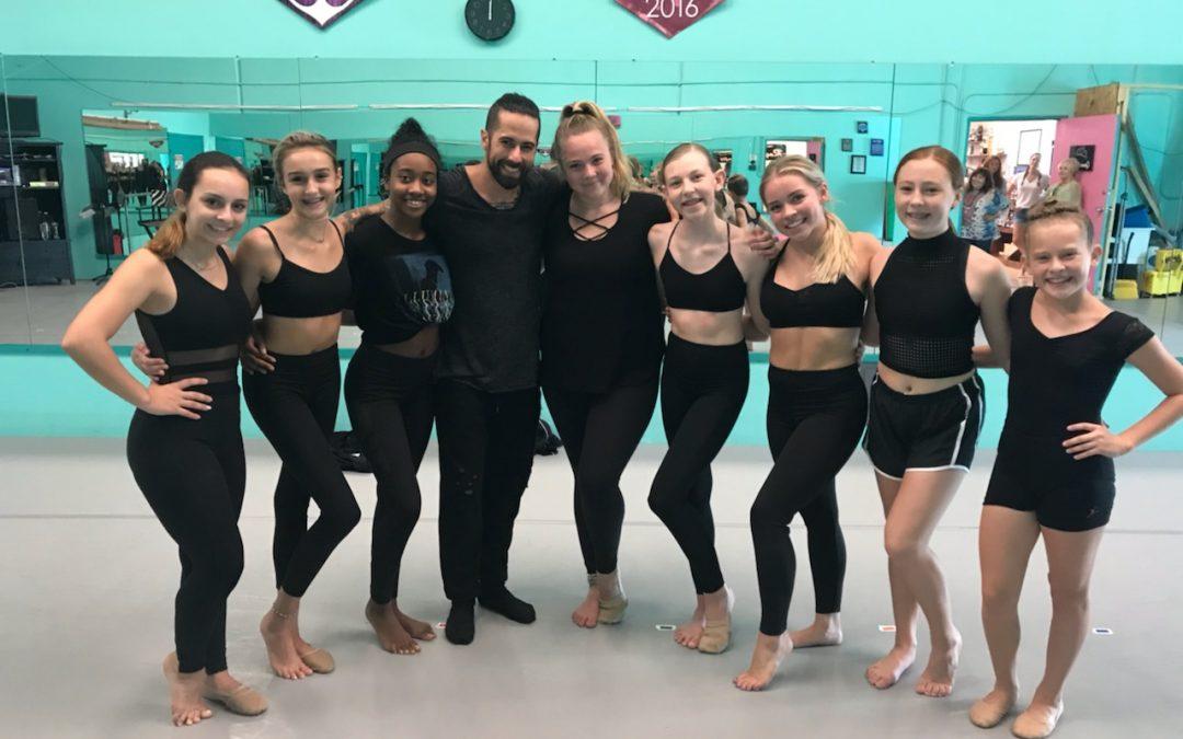 2018 Teen Elite Prodigy Choreographer DJ Guthrie visits